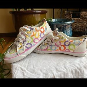 Classic coach shoes- rainbow